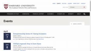 Harvard University Events