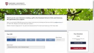 Harvard University Make A Gift
