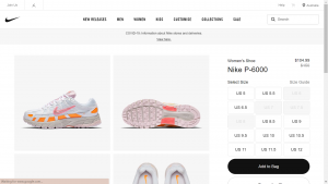 Nike Item Details Page