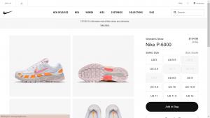 Nike Item Details Page