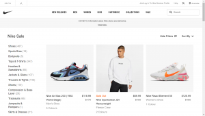 Nike Sales Page