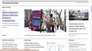 The Economist Homepage