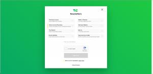 TechCrunch Newsletter Page