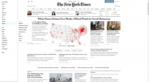 The New York Times Side Navigation Panel