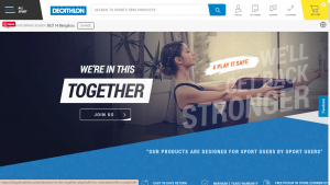 Decathlon Homepage