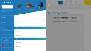 Decathlon Navigation Bar