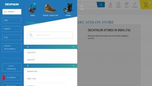 Decathlon Navigation Bar