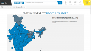 Decathlon Store Locator