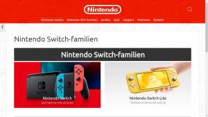 Nintendo Products Page (Switch)